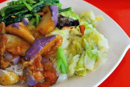Asian healthy vegetarian meal. For concepts such as food and beverage, healthy eating, and diet and nutrition. photo