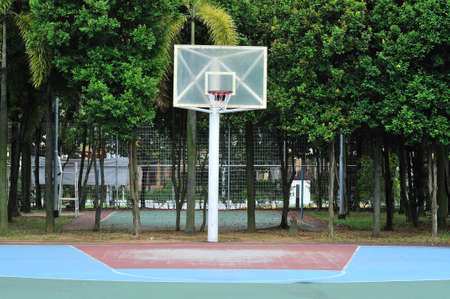 Empty street basketball court. For concepts such as sports and exercise, and healthy lifestyle. photo