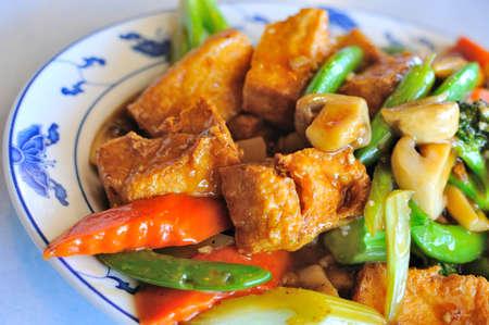 cagliata: Cucina sana e deliziosi Asian farina di fave. Archivio Fotografico