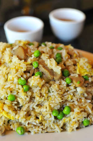 sumptuous: Delicious and sumptuous Chinese style fried rice. Stock Photo