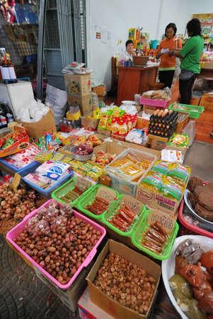 general store: General grocery store selling various food ingredients in Thailand Editorial