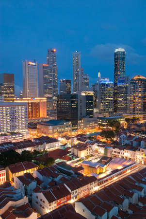 SINGAPORE - DECEMBER 12: Beautiful lightup of Singapore city taken on December 12, 2009 in Singapore.