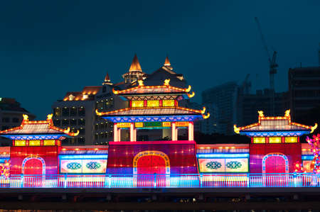 lightup: Beautiful and colorful lightup during the annual mooncake festival.