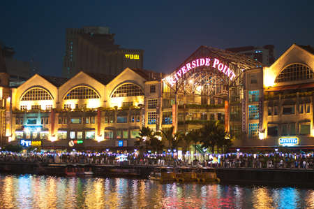 lightup: Colorful lightup along Singapore River