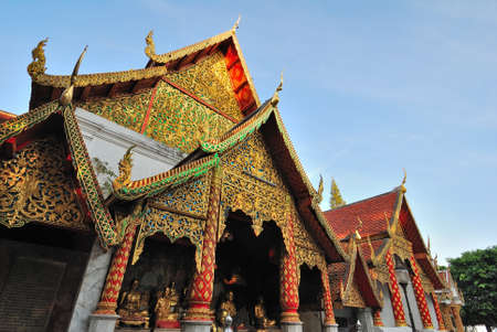 architectural designs: Majestic religious monument with typical Southeast Asian architectural designs.