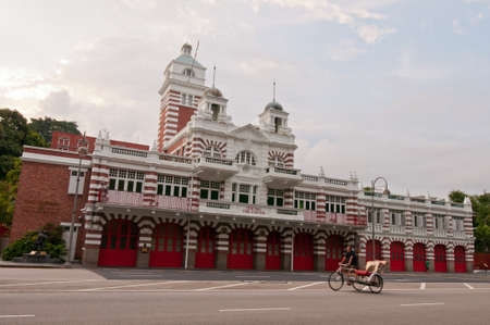 The historical Central Fire Station with unique English designs since the early colonial days. Stock Photo - 10678214