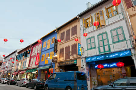 singapore culture: Traditional Chinese style architectural designs in downtown Chinatown.