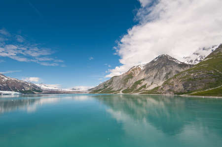 Breathtaking scenery of Glacier Bay Nationa Park in Alaska.
