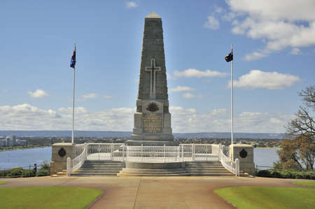 sacrificed: World War one memorial monument erected in King Georges Park in memory of the people who sacrificed their lives in the war.