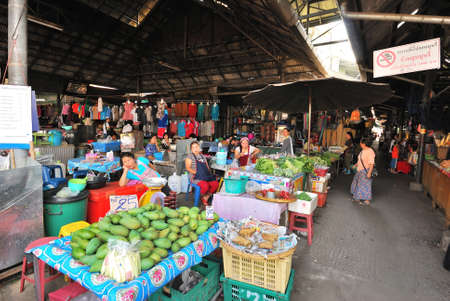 necessities: Market and grocery stalls commonly found in Thailand and other Asian countries selling various food ingredients and daily necessities. Editorial