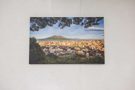 canvas print: Canvas print of landscape scenery hung up on wall.