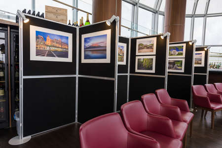 ion: Singapore, 16 Jan 2016: Solo travel photography exhibition at Kagoshima-Singapore Tourism Seminar at Salt Grill & Sky Bar, ION Orchard.