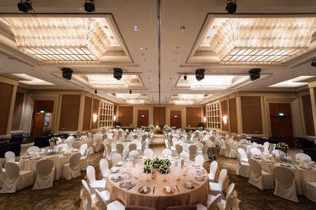 banquet: Singapore, 24 Jan 2015: Hotel setup for grand wedding banquet. Editorial