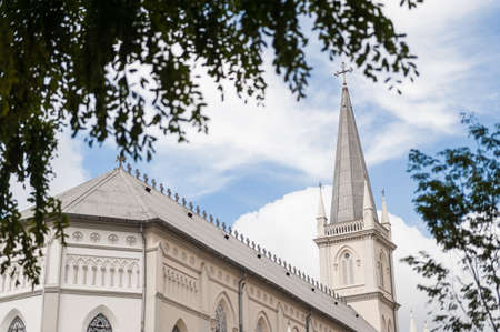 singaporean: Singapore, 15 Jan 2015: External view of Chijmes. Chijmes is a historic building complex and a Singaporean national monument that began as a convent. Editorial