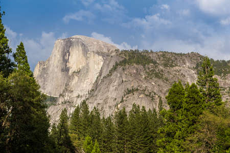 half dome: Close up view of Half Dome in Yosemite National Park. Stock Photo