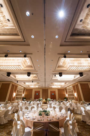 centennial: Singapore, 24 Jan 2015: Gorgeous wedding banquet setup at Conrad Centennial Hotel.