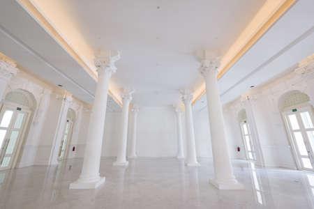 concert hall: Singapore, 23 Feb 2016: Majestic architecutre of interior of Victoria Concert Hall. Editorial