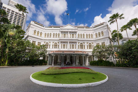 statesman: Singapore, 23 Feb 2016: Raffles Hotel is a colonial-style luxury hotel established in 1887. The hotel was named after British statesman Sir Thomas Stamford Raffles, the founder of Singapore.