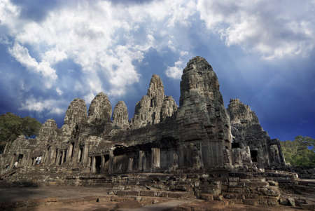 angkor thom: Angkor Thom, Bayon, Cambodia Stock Photo