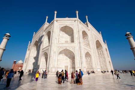 love dome: The tomb chamber sitting on the platform at Taj Mahal, India