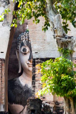 ajana: SUKHOTHAI, THAILAND - NOV 10: Close-up of Phra Ajana in the Mandapa at Wat Si Chum on November 10, 2011, Sukhothai, Thailand