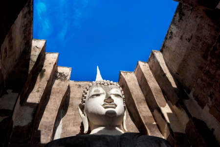 ajana: SUKHOTHAI, THAILAND - MAY 30: Phra Ajana, the sitting Buddha Image inside the Mandapa at Wat Si Chum on May 30, 2010, Sukhothai, Thailand