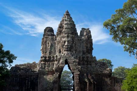 thom: Angkor Thom, Bayon, Cambodia Stock Photo