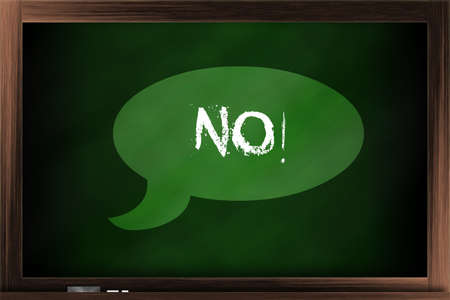 callout: Callout saying no on a blackboard
