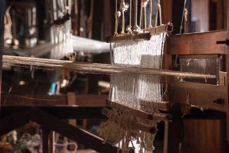 craftman: Traditional handloom, Myanmar Stock Photo