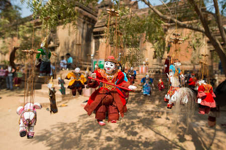 puppet master: Myanmar string puppet for sale at a temple in Bagan