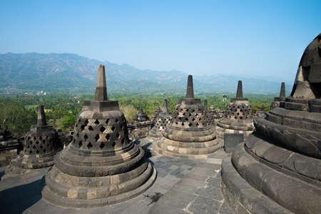 holed: Square holed stupas at Borobudur