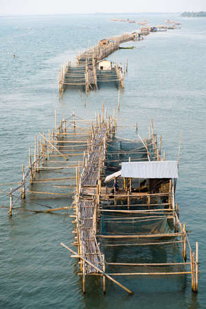 aquaculture: Fish farming in Thailand, aquaculture Stock Photo