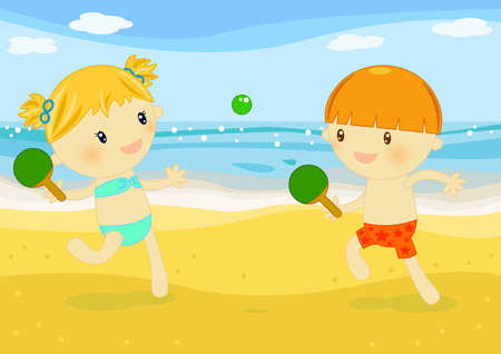 beach tennis Stock Photo - 10184971