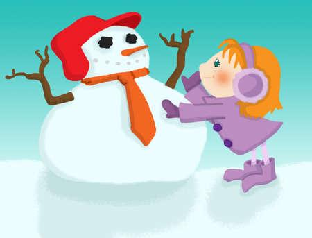snowman child photo