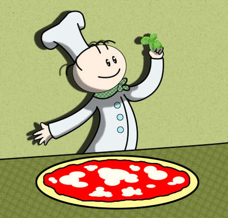 cooking pizza photo
