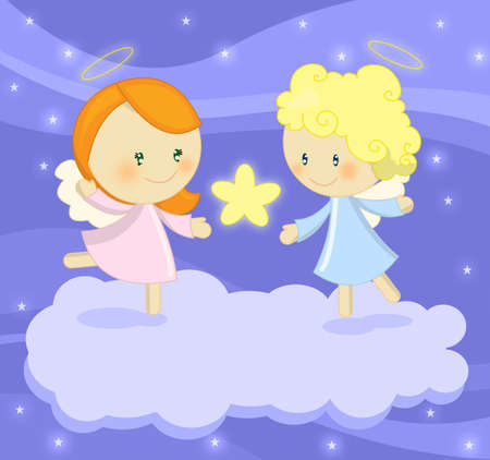 angels: cute little angels Stock Photo