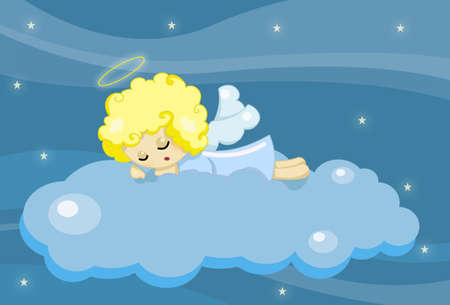 cute sleeping angel boy Stock Photo - 13422332