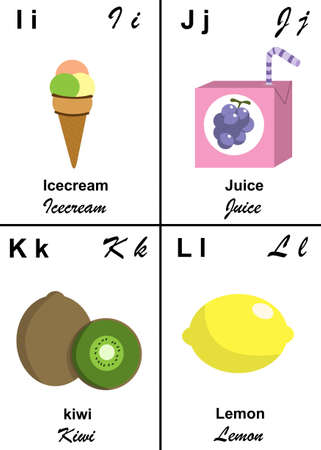 alphabet and fruit photo