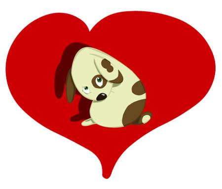 sad dog: cute sad dog Stock Photo