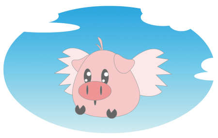 flying pig Stock Photo - 13589818