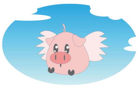 flying pig Stock Photo - 13589818