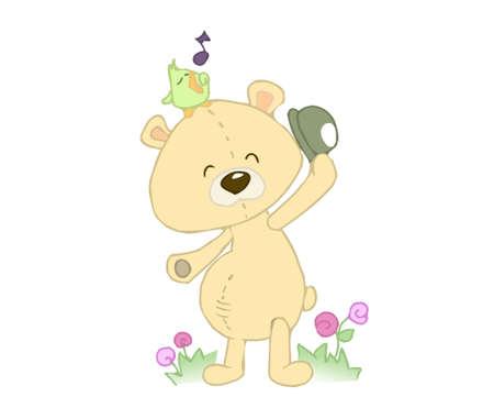 drawed: teddy bear Stock Photo