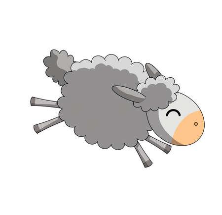 happy jumping sheep photo