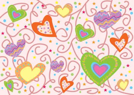 hearts texture photo