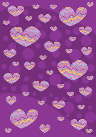 violet hearts Stock Photo - 13662861