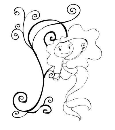 cute mermaid Stock Photo - 13680441