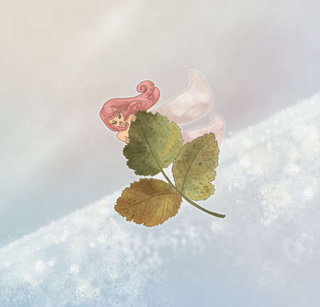 little girl dancing: winter fairy