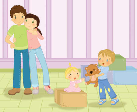 Family moving photo