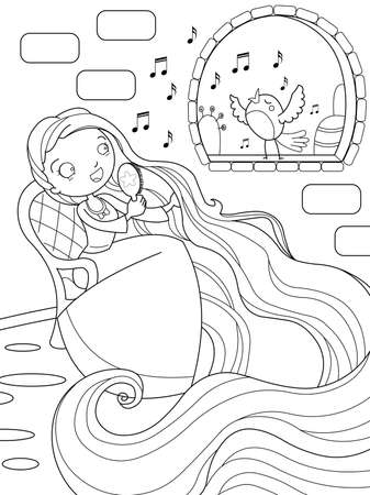 popular tale: Rapunzel