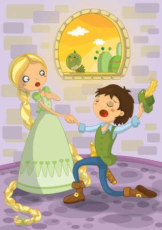 popular tale: Rapunzel fairytale